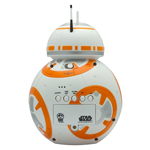 BulbBotz-Star-Wars-Episode-7-BB-8-Plastic-Clock-WhiteOrange-0-3